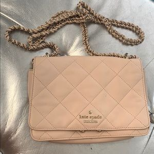 Kate spade / Pink quilted crossbody